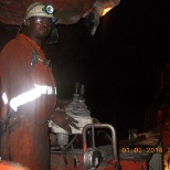 Drilling with Quasar on Long hole stope