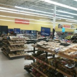 Walmart groceries and cake area