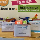Last of the 2020 hampers for our clients.  Items kindly donated by SureCare Oxfordshire staff.