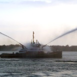 McAllister Towing photo: Water Spray