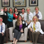 Wearing red noses to bring awareness to childhood poverty