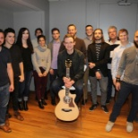 ASCAP photo: Singer Song Writer James TW shared some of his songs with the ASCAP staff this morning