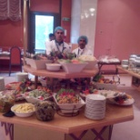 ARRANGING BUFFET IN RESTAURANT