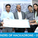 Winners of Hackadrone - 2018