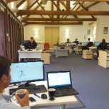 The Stonor team in the office.