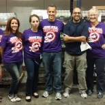 """Making lives better..."" volunteering at the local food bank.."