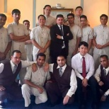Housekeeping room attandent staff with Housekeeping supervisor, assistant manager, manager.