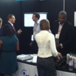 Busy booth at the CIPD conference - June 2012.