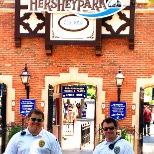 Security Officers guard the front gate of Hersheypark.