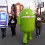 Andy the Android, with Billboard Backpacks and Brand Ambassadors ready to own the night!
