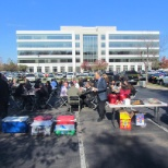 Annual Employee Stock Ownership Plan celebration BBQ outside AMERICAN SYSTEMS' Headquarters.