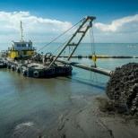 Boskalis photo: The construction of the Marker Wadden.