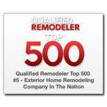 Qualified Remodeler Top 500 - #5 Exterior Home Remodeling Company in the Nation