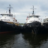 Crowley Maritime photo: Invader class tugboats awaiting the next trip