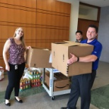 CDW photo: CDW's Herndon office donated 87 holiday food baskets to a local charity for Thanksgiving