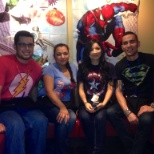 Super hero day at chili's
