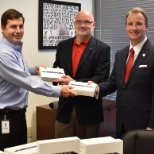 Exide Technologies donating iPads to a local Veteran's nonprofit, Green Veterans