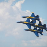 Blue Angels diamond formation during final airshow 2012 season.