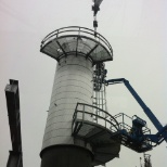 ASRC photo: Installing landings and ladders with 45ton Grove
