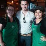 Starbucks photo: Kevin Jonas orders a capuccino