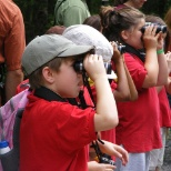 "Hawk Mountain Sanctuary photo: Children learn binocular basics before heading to the Lookout ... a true ""School in the Clouds."""