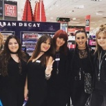 Tream picture, we won best cosmetics team of the year for Debenhams Trafford