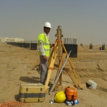 As Land surveyor In Alrajhi construction company