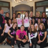 Alliance associate showing their support for breast cancer awareness month!