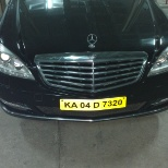 Mercedes car which I driving to pickup and drop vip guests.