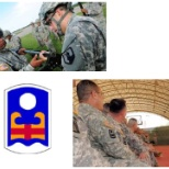 Troop Command and 92nd Maneuver Enhanced Brigade (MEB) units during training/briefings