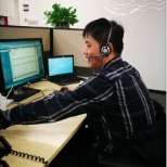 I took last call for Global Help desk Oracle Dalian CN