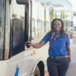 Angèle, conductrice de bus