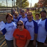 Team Members get together for a softball game