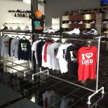The footwear and apparel retail store