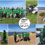 Our Accident Support Team at their Beach Clean-Up Event