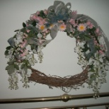 Floral/grapevine bedroom wall hanging