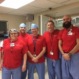 Presbyterian/St. Luke's Medical Center photo: Some of our staff in red for National Wear Red Day for heart disease awareness