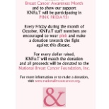 KNF&T is participating in Pink Friday's during October!
