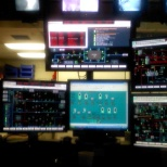 Control room of the power dept.