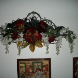 Floral/grapevine kitchen wall hanging