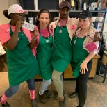 This was when we had spirit week at our store, and we dressed up as the mean girls.