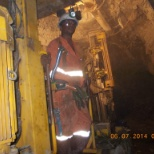 I'm still working in Long hole stope (Underground) with Atlas Copco Simba H - 1257.