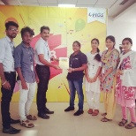 Exceptional employee dedication deserves recognition. HGS Chennai employees receiving their awards f