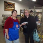 Manitowoc's Branch Office 2013 Donation to The Salvation Army Food Pantry