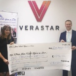 Verastar have scored again by hosting a football tournament and raising money
