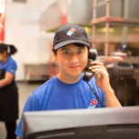 Domino's photo: Taking orders!