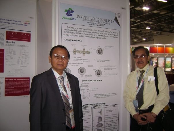 CEPSI 2008 Macau, Poster Exhibit on Security Bolt Nut for towers.