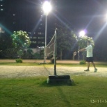 Cyient photo: badminton court