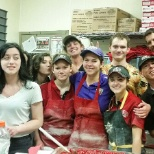 Half of the employees showing Margaret love on her last day!