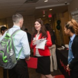 Networking at a campus recruiting event!